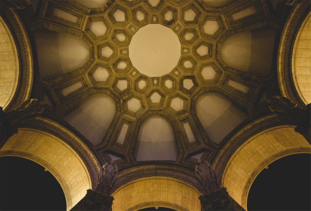 Ceiling architecture arches