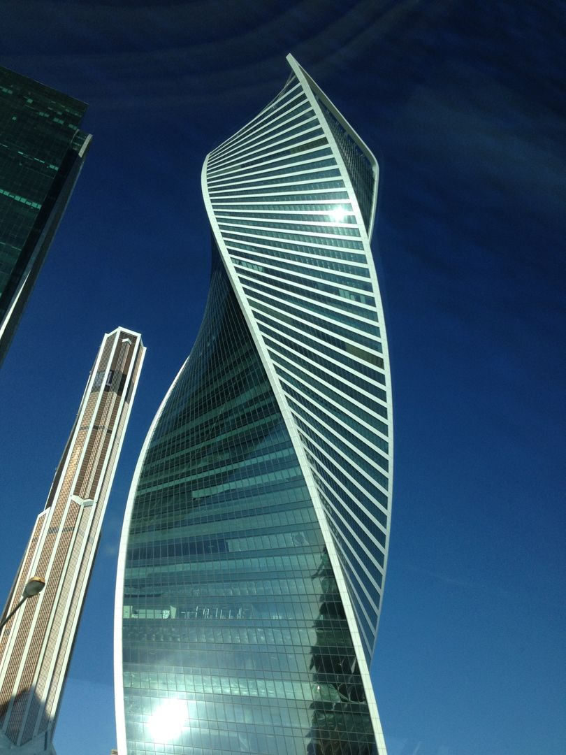 Low angle view of skyscraper Free Stock Images from PikWizard