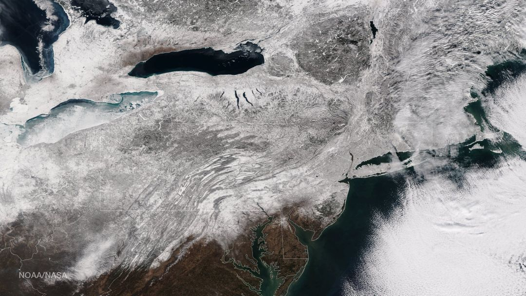 "As the storm moves offshore and the skies clear over the Northeast United States, the extent of snowfall from the blizzard is shown in this image from the Suomi NPP satellite imagery, taken on January 28, 2015 at 1:50 EST. Portions of Suffolk County, New York and parts of eastern and southern New England, including areas in and around Portland, Maine, Boston, Massachusetts, and Providence, Rhode Island, received more than 20 inches of snowfall. Up to 36 inches of snow were reported in Auburn, Hudson and Lunenburg, Massachusetts.  Credit: NASA/NOAA/NPP/VIIRS  Via: <b><a href=""www.nnvl.noaa.gov/"" rel=""nofollow""> NOAA Environmental Visualization Laboratory</a></b>  <b><a href=""http://www.nasa.gov/audience/formedia/features/MP_Photo_Guidelines.html"" rel=""nofollow"">NASA image use policy.</a></b>  <b><a href=""http://www.nasa.gov/centers/goddard/home/index.html"" rel=""nofollow"">NASA Goddard Space Flight Center</a></b> enables NASA's mission through four scientific endeavors: Earth Science, Heliophysics, Solar System Exploration, and Astrophysics. Goddard plays a leading role in NASA's accomplishments by contributing compelling scientific knowledge to advance the Agency's mission. <b>Follow us on <a href=""http://twitter.com/NASAGoddardPix"" rel=""nofollow"">Twitter</a></b> <b>Like us on <a href=""http://www.facebook.com/pages/Greenbelt-MD/NASA-Goddard/395013845897?ref=tsd"" rel=""nofollow"">Facebook</a></b> <b>Find us on <a href=""http://instagram.com/nasagoddard?vm=grid"" rel=""nofollow"">Instagram</a></b>"