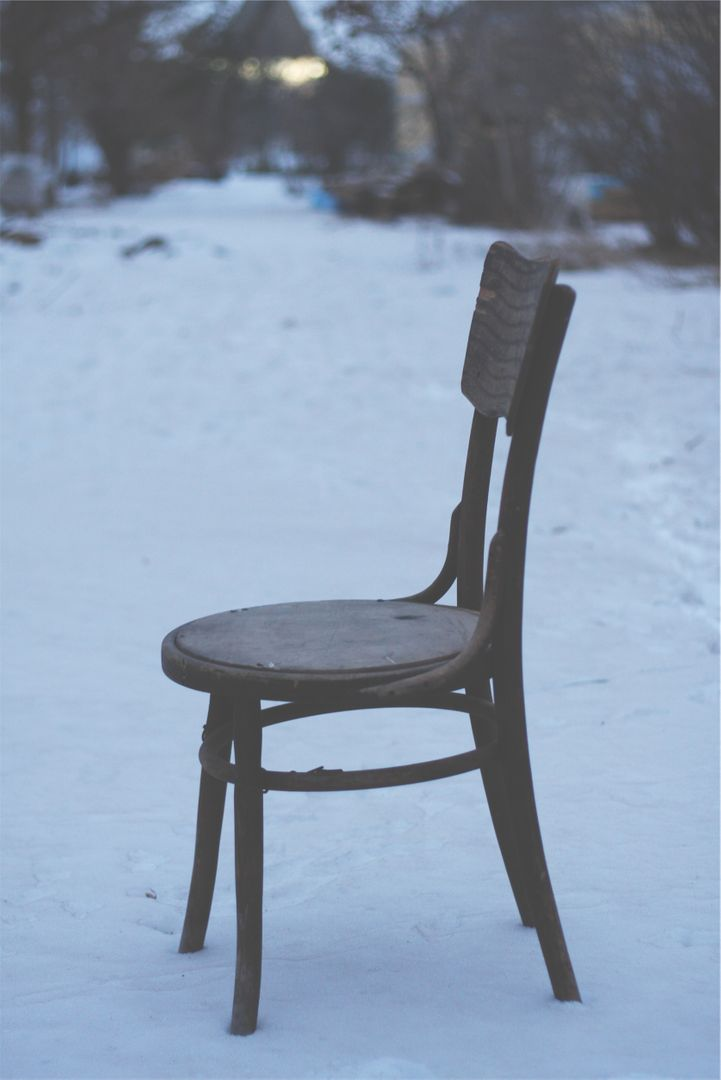 Chair winter snow