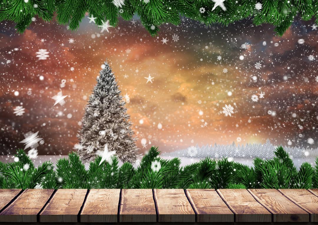 Digitally generated image of Christmas background with wooden plank board Free Stock Images from PikWizard