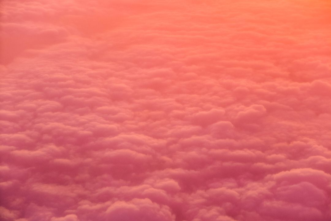Pastel coloured clouds at sunset