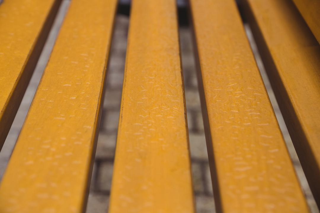 Close-up of wooden strips on bench, backgrounds