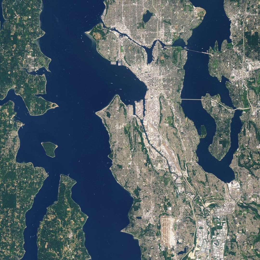 "Landsat 7 image of Seattle, Washington acquired August 23, 2014.  Landsat 7 is a U.S. satellite used to acquire remotely sensed images of the Earth's land surface and surrounding coastal regions. It is maintained by the Landsat 7 Project Science Office at the NASA Goddard Space Flight Center in Greenbelt, MD.  Landsat satellites have been acquiring images of the Earth's land surface since 1972.  Currently there are more than 2 million Landsat images in the National Satellite Land Remote Sensing Data Archive.    For more information visit: <a href=""http://landsat.usgs.gov/"" rel=""nofollow"">landsat.usgs.gov/</a>..To learn more about the Landsat satellite go to:.<a href=""http://landsat.gsfc.nasa.gov/"" rel=""nofollow"">landsat.gsfc.nasa.gov/</a>  Credit: NASA/GSFC/Landsat 7  <b><a href=""http://www.nasa.gov/audience/formedia/features/MP_Photo_Guidelines.html"" rel=""nofollow"">NASA image use policy.</a></b>  <b><a href=""http://www.nasa.gov/centers/goddard/home/index.html"" rel=""nofollow"">NASA Goddard Space Flight Center</a></b> enables NASA's mission through four scientific endeavors: Earth Science, Heliophysics, Solar System Exploration, and Astrophysics. Goddard plays a leading role in NASA's accomplishments by contributing compelling scientific knowledge to advance the Agency's mission.  <b>Follow us on <a href=""http://twitter.com/NASAGoddardPix"" rel=""nofollow"">Twitter</a></b>  <b>Like us on <a href=""http://www.facebook.com/pages/Greenbelt-MD/NASA-Goddard/395013845897?ref=tsd"" rel=""nofollow"">Facebook</a></b>  <b>Find us on <a href=""http://instagrid.me/nasagoddard/?vm=grid"" rel=""nofollow"">Instagram</a></b>"
