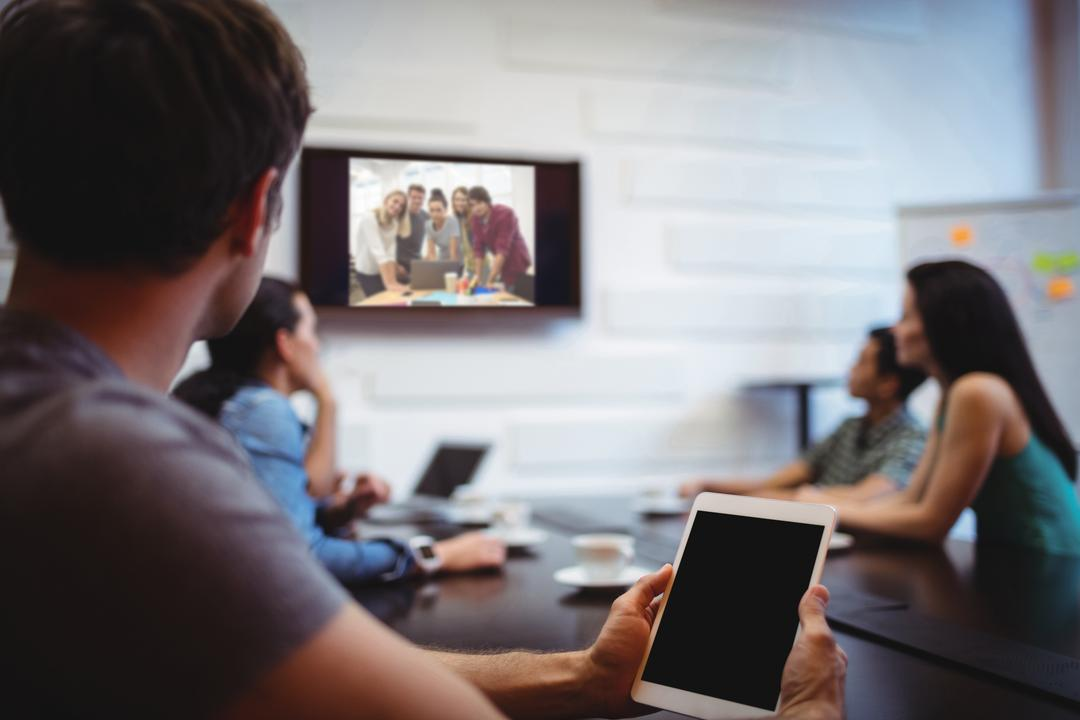 Image of People Having a Business Video Conference
