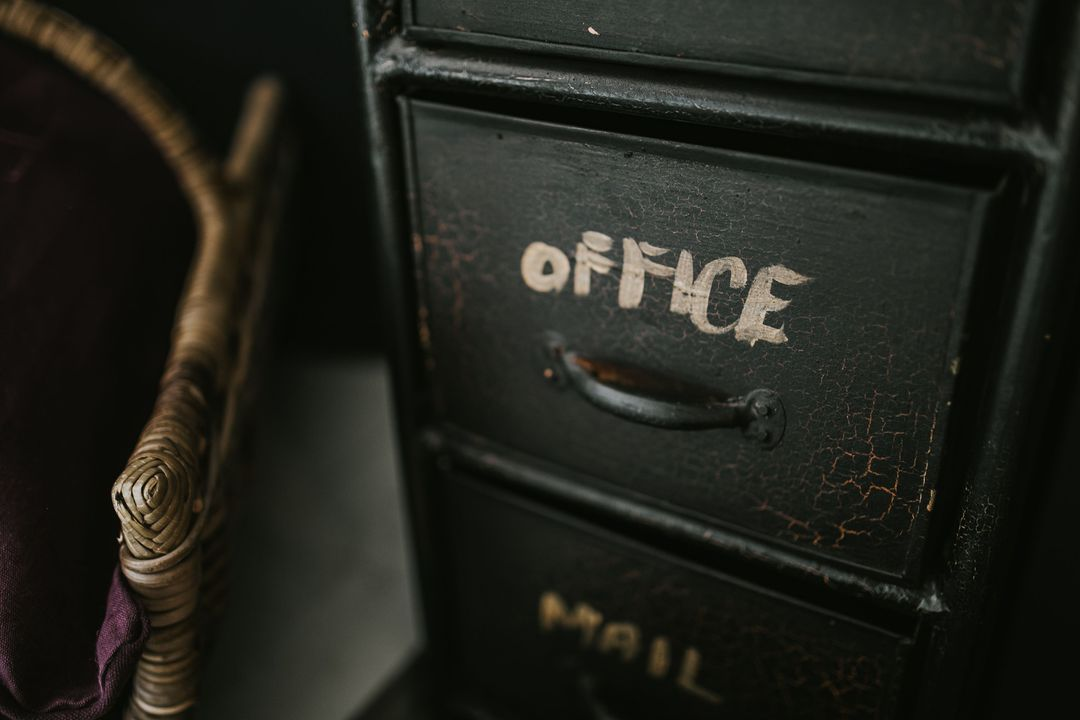 Black Office Desk Vintage Free Photo