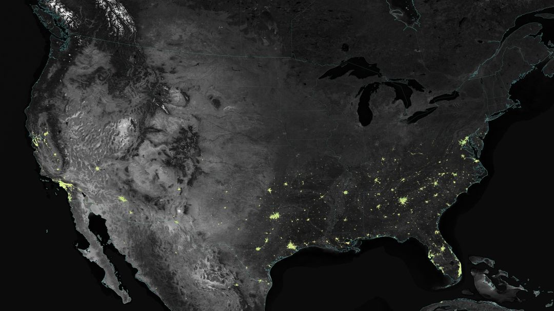 "City lights shine brighter during the holidays in the United States when compared with the rest of the year, as shown using a new analysis of daily data from the NASA-NOAA Suomi NPP satellite. Dark green pixels are areas where lights are 50 percent brighter, or more, during December.   Because snow reflects so much light, the researchers could only analyze snow-free cities. They focused on the U.S. West Coast from San Francisco and Los Angeles, and cities south of a rough imaginary line from St. Louis to Washington, D.C.  Credit: Jesse Allen, NASA's Earth Observatory  Read more: <a href=""http://www.nasa.gov/content/goddard/satellite-sees-holiday-lights-brighten-cities"" rel=""nofollow"">www.nasa.gov/content/goddard/satellite-sees-holiday-light...</a>  <b><a href=""http://www.nasa.gov/audience/formedia/features/MP_Photo_Guidelines.html"" rel=""nofollow"">NASA image use policy.</a></b>  <b><a href=""http://www.nasa.gov/centers/goddard/home/index.html"" rel=""nofollow"">NASA Goddard Space Flight Center</a></b> enables NASA's mission through four scientific endeavors: Earth Science, Heliophysics, Solar System Exploration, and Astrophysics. Goddard plays a leading role in NASA's accomplishments by contributing compelling scientific knowledge to advance the Agency's mission. <b>Follow us on <a href=""http://twitter.com/NASAGoddardPix"" rel=""nofollow"">Twitter</a></b> <b>Like us on <a href=""http://www.facebook.com/pages/Greenbelt-MD/NASA-Goddard/395013845897?ref=tsd"" rel=""nofollow"">Facebook</a></b> <b>Find us on <a href=""http://instagram.com/nasagoddard?vm=grid"" rel=""nofollow"">Instagram</a></b>"