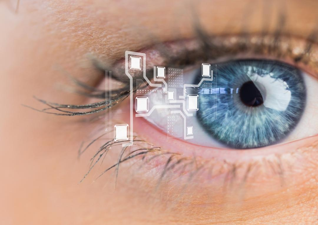 Digital composition of eye interface Free Stock Images from PikWizard