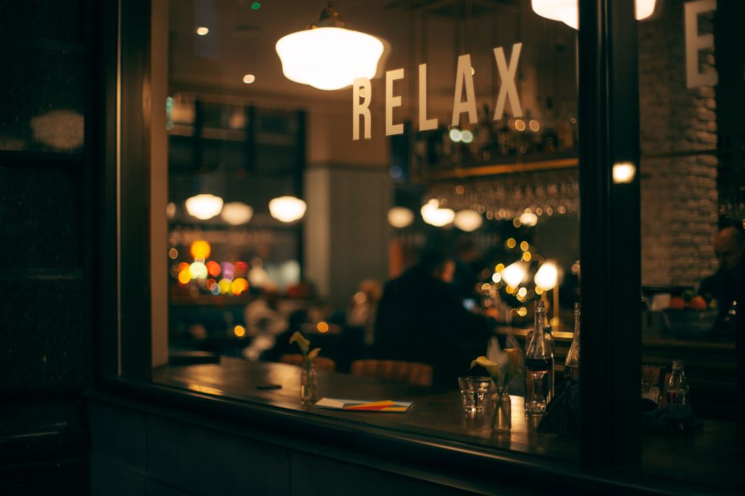 Relax Restaurant Sign Free Photo
