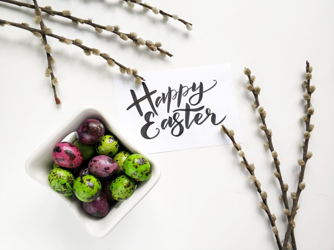 Happy Easter White Free Photo