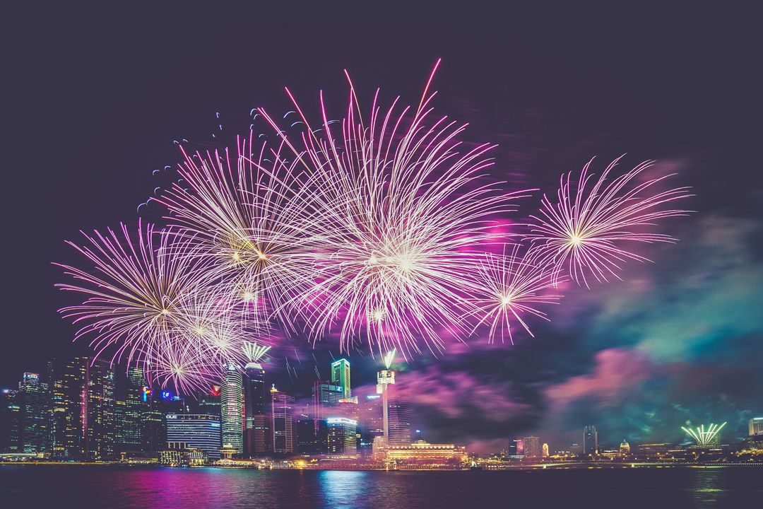 How to start a travel blog - fireworks light celebration