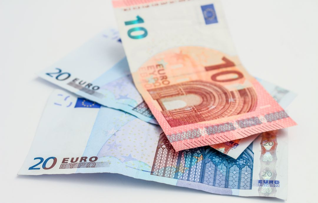 Money bills currency euros