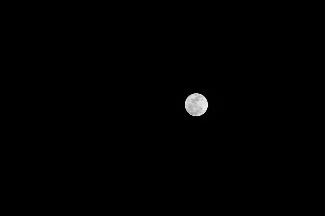 Scenic View of Moon Against Black Sky