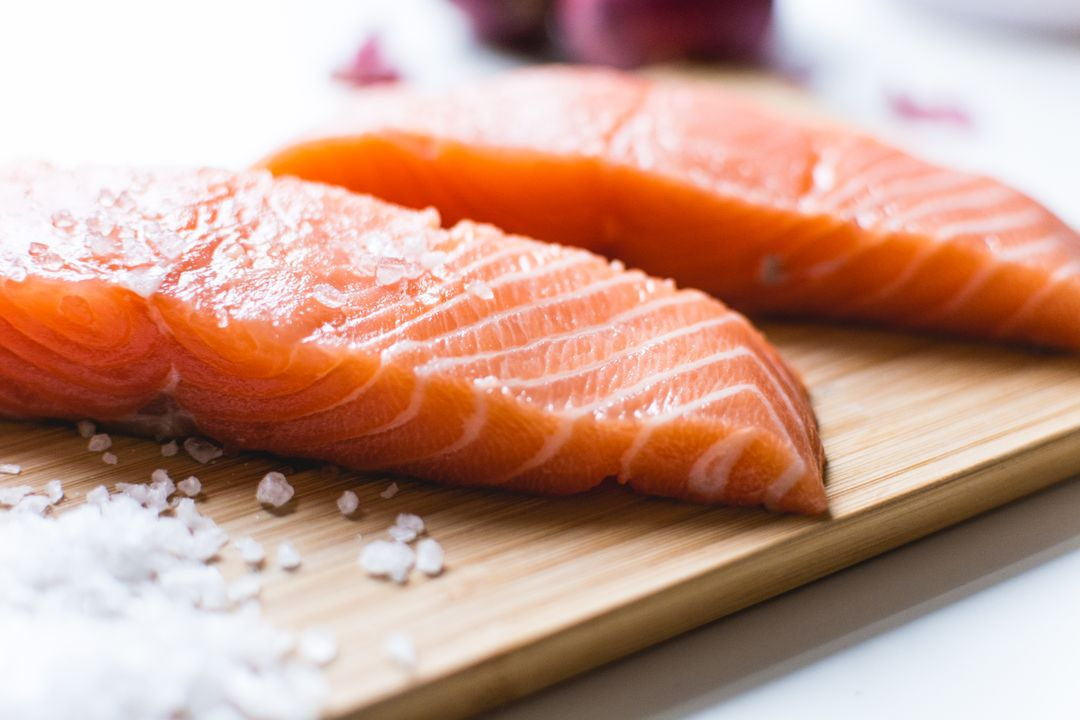Salmon fillets Salt
