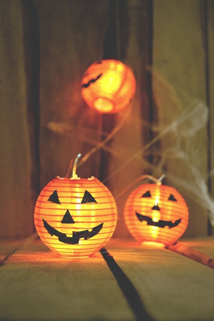 Halloween Pumpkin Lantern Candle Free Photo