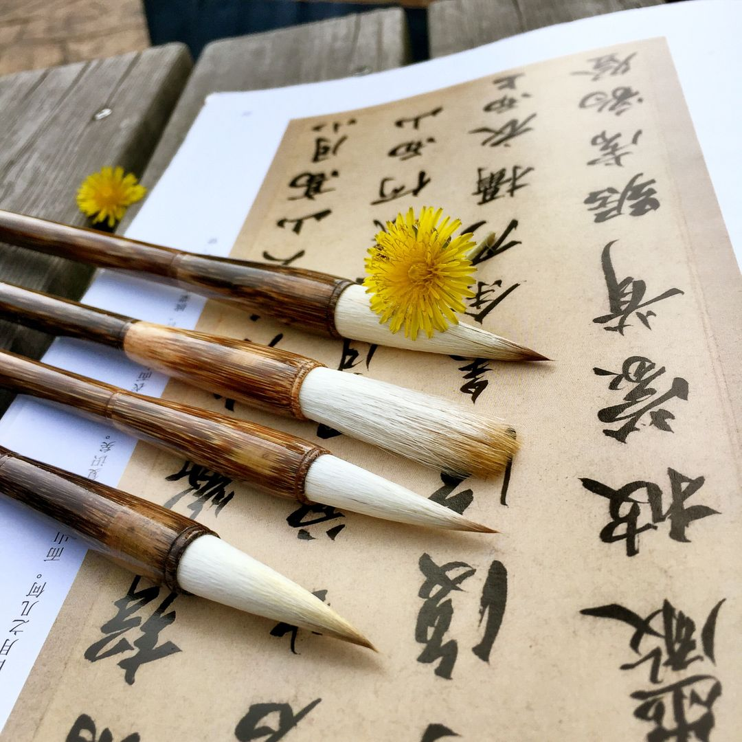 Latiflorus set students to practice calligraphy shanlian lake pen sheep and cents