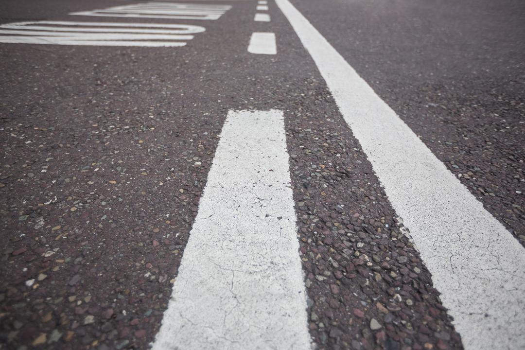 Road marking on road surface, full frame Free Stock Images from PikWizard