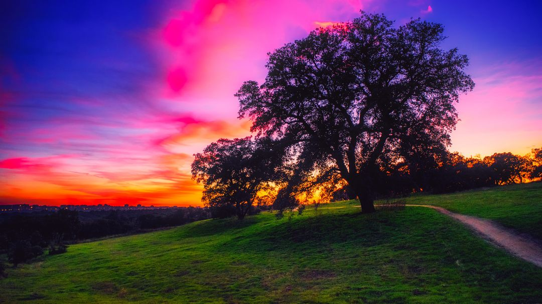 Beautiful colorful country hdr