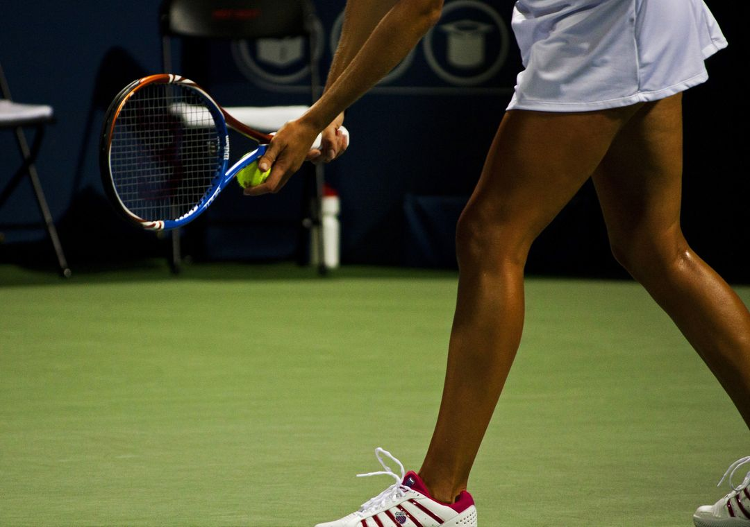 tennis player on court fitness