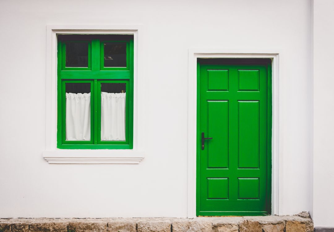 Green Dor and Window