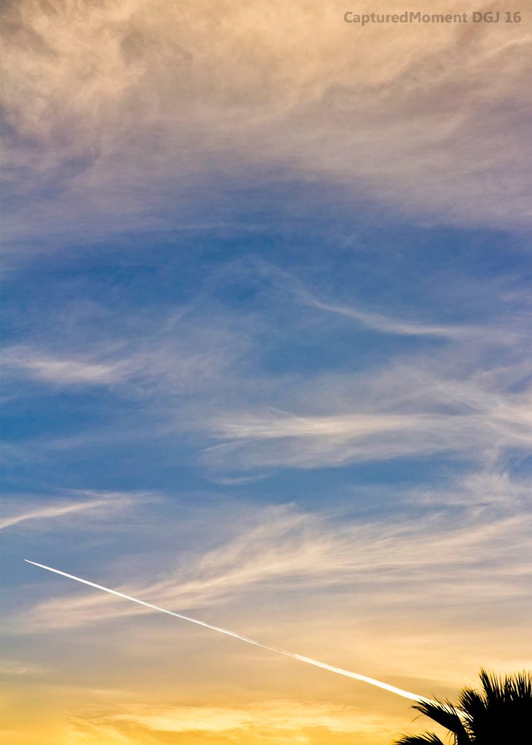 Contrails sky sky color