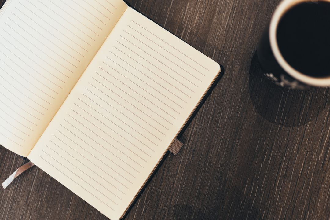 Notepad Book Coffee