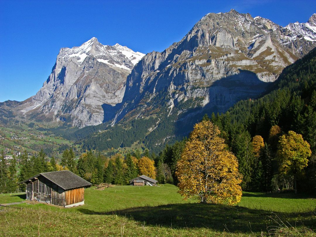 Adventure alpine autumn barn