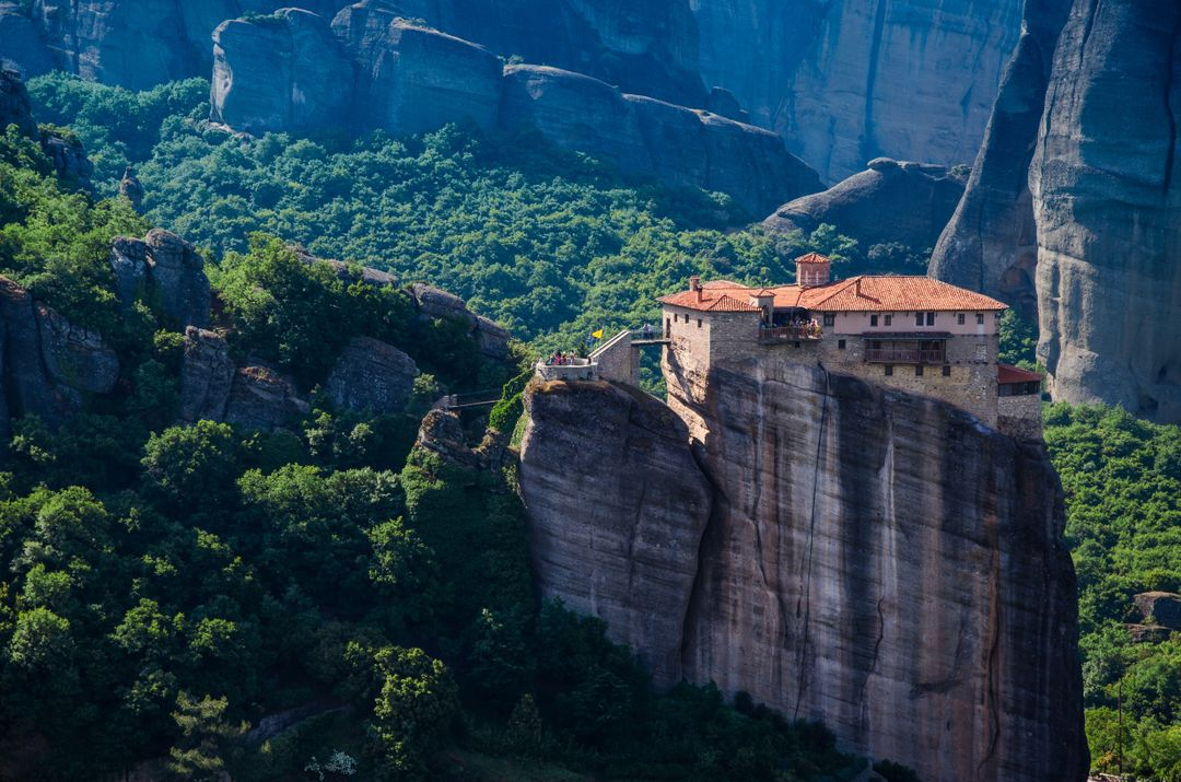 Forest greece meteora monastery
