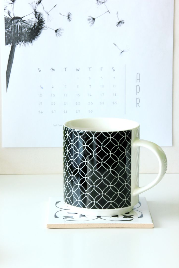 Calendar coffee mug the drink