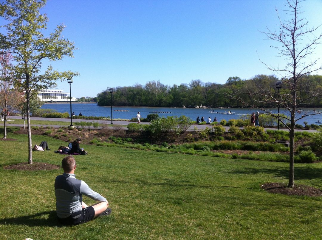 Outdoors potomac river serenity yoga
