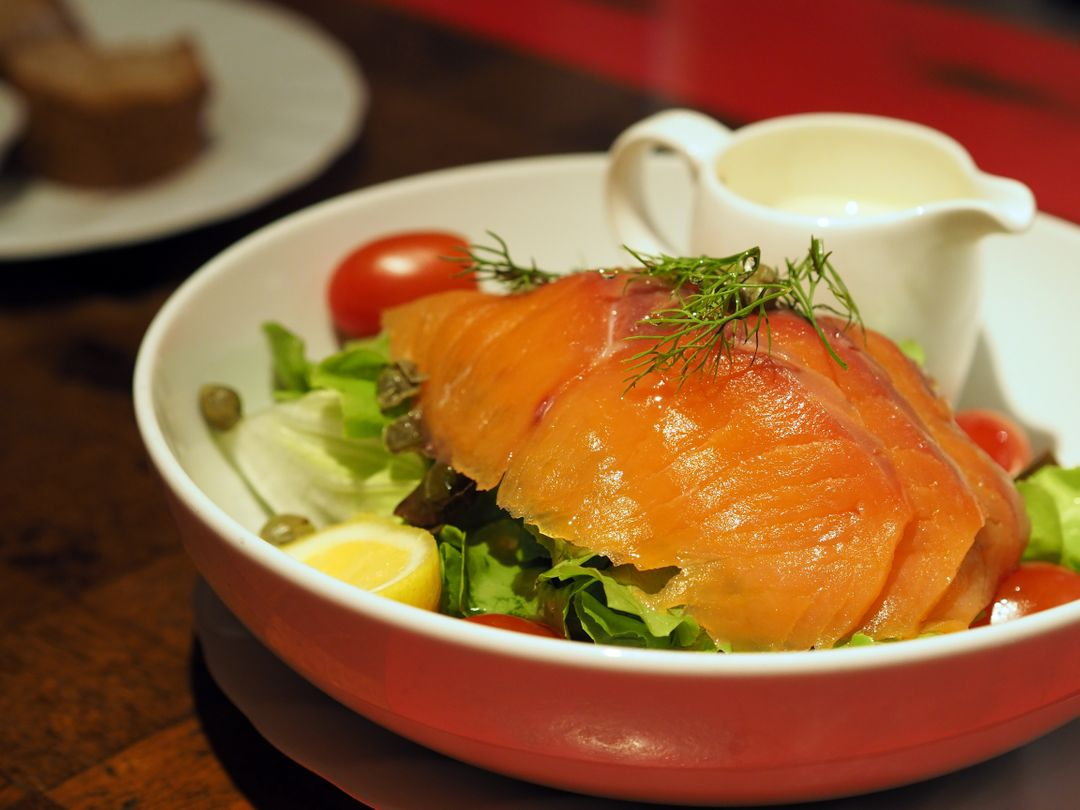 Health healthy food salad salmon