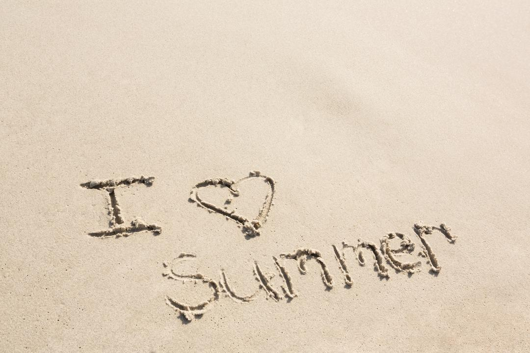 I love summer written on sand at beach Free Stock Images from PikWizard