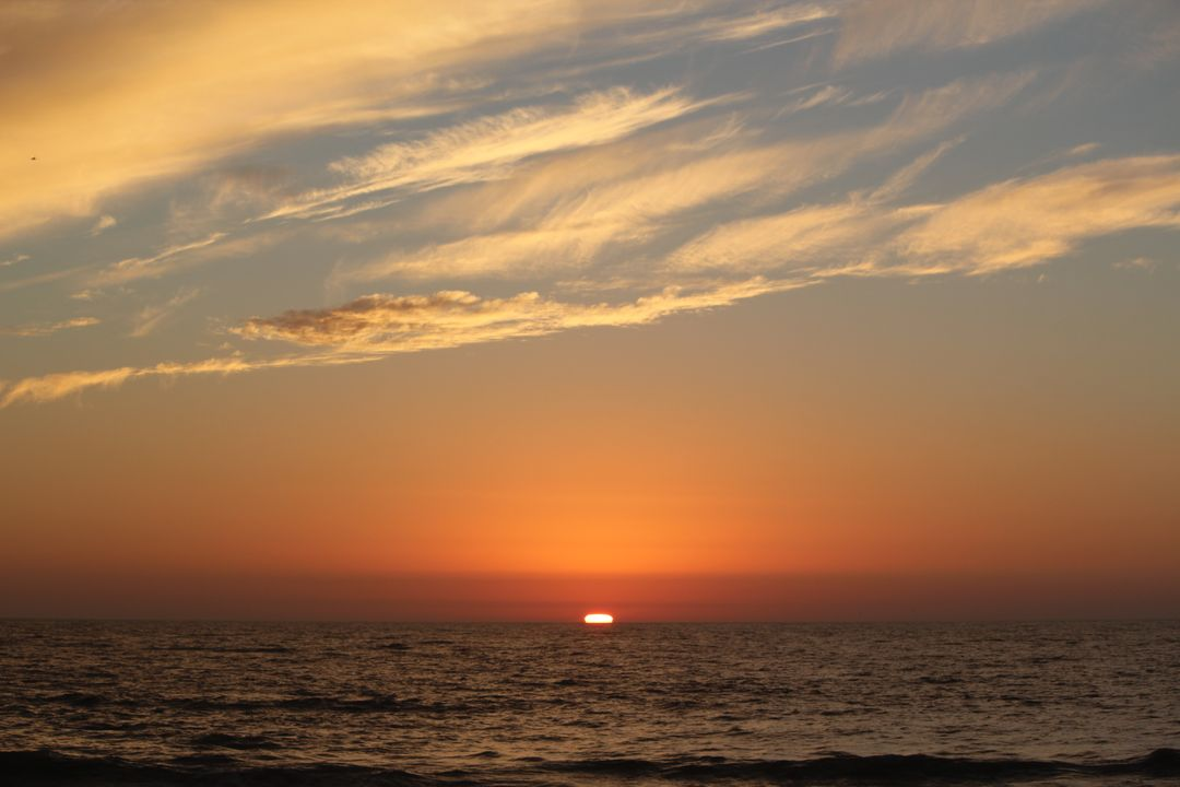 Image of a Sunset at the Sea