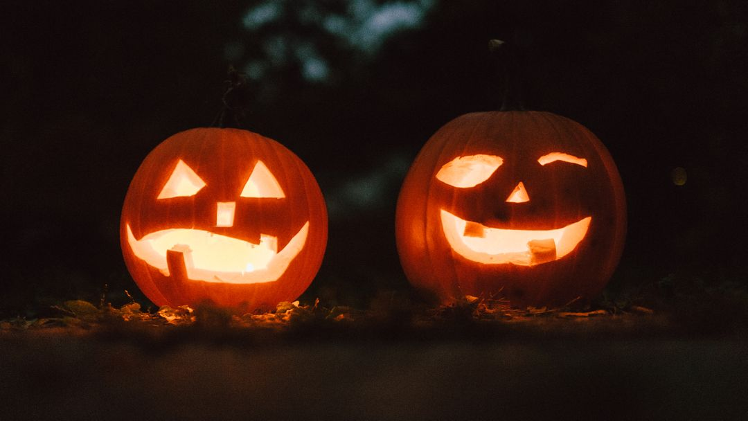 Image of Two Pumpkin Laterns