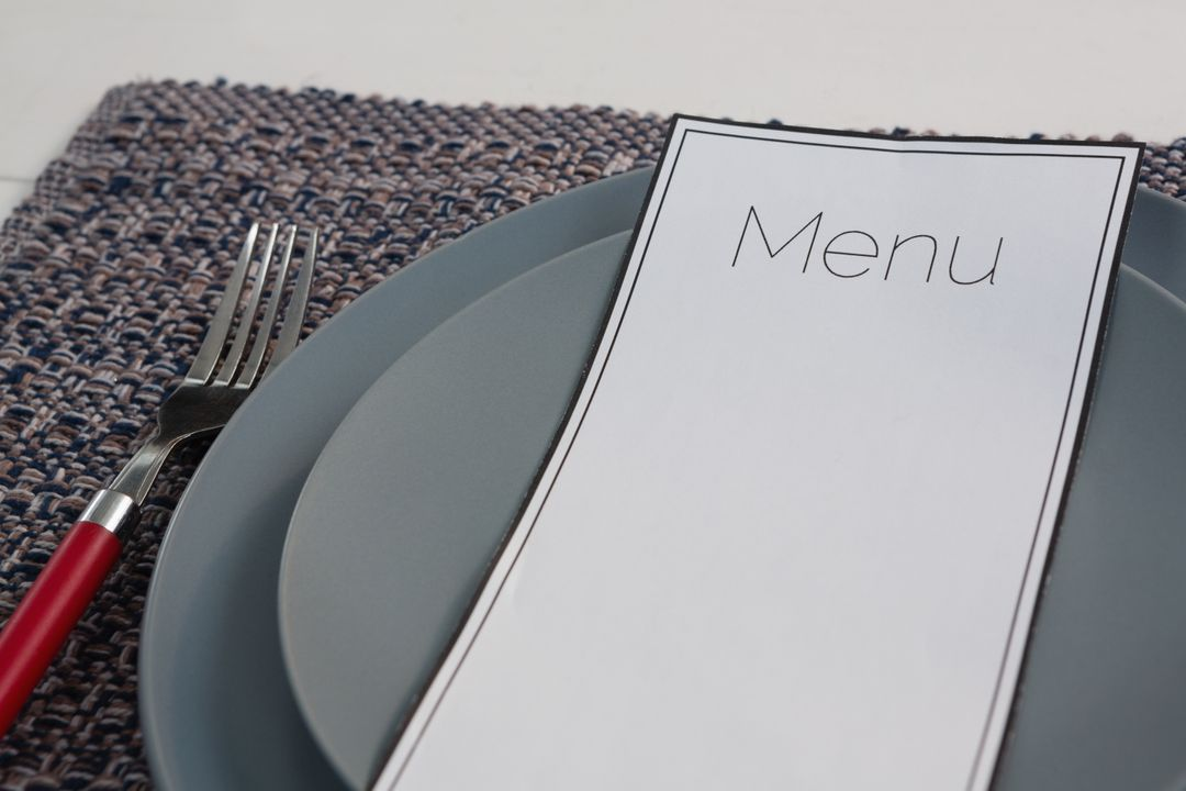 Close-up of menu card on table setting Free Stock Images from PikWizard
