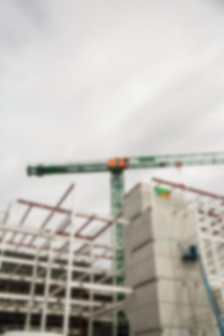 Blur view of crane at construction site Free Stock Images from PikWizard