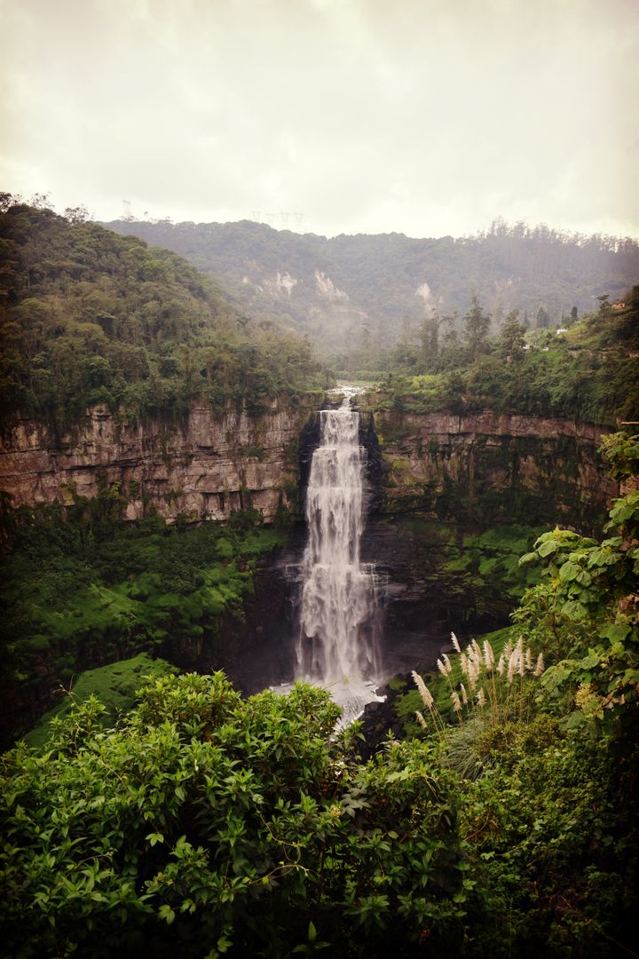 Bogota river colombia tequendama waterfall