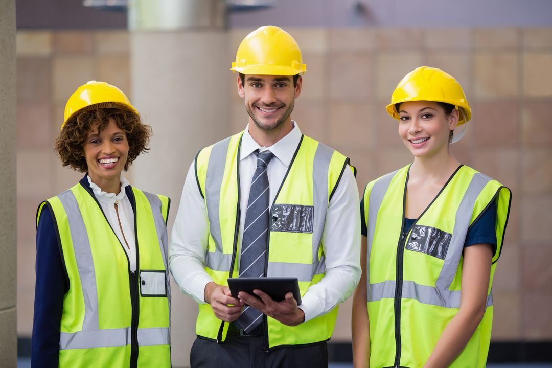 Portrait of architects holding digital tablet at conference centre Free Stock Images from PikWizard