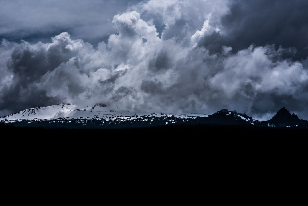 Panoramic view of storm clouds over landscape Free Stock Images from PikWizard