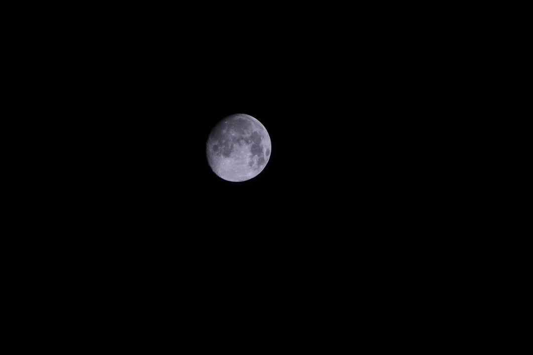 Gray Round Moon during Night