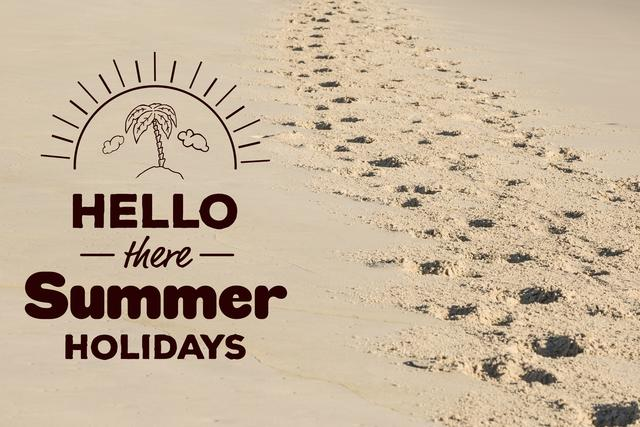 Digital composite of hello there summer holidays vector