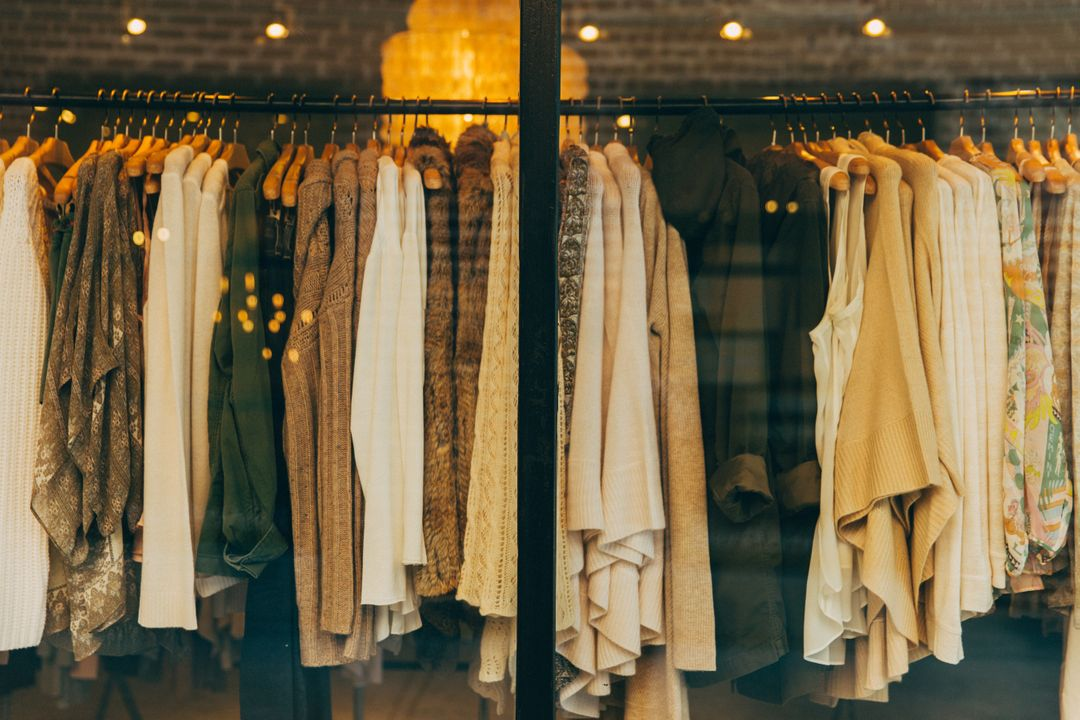 Image 36 How To Start A Fashion Blog - Clothes in a shop windows.