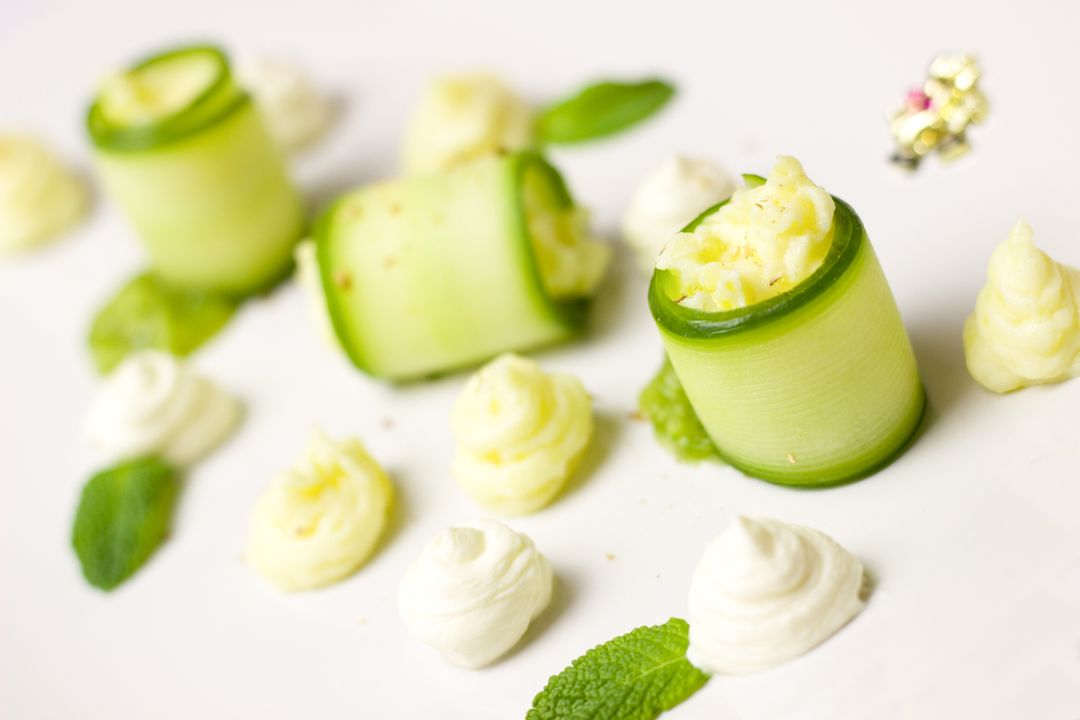 How To Start A Food Blog - cream cheese cucumber