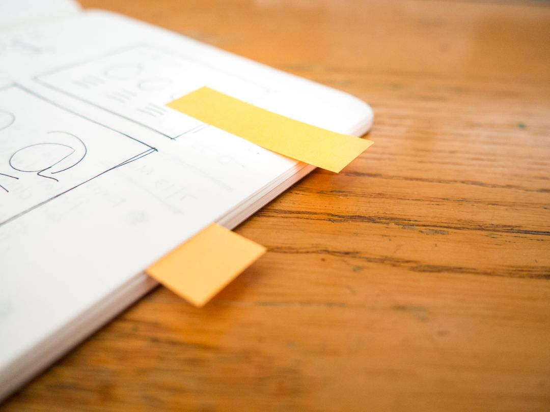 Sketch Wireframe Yellow Notes Free Photo