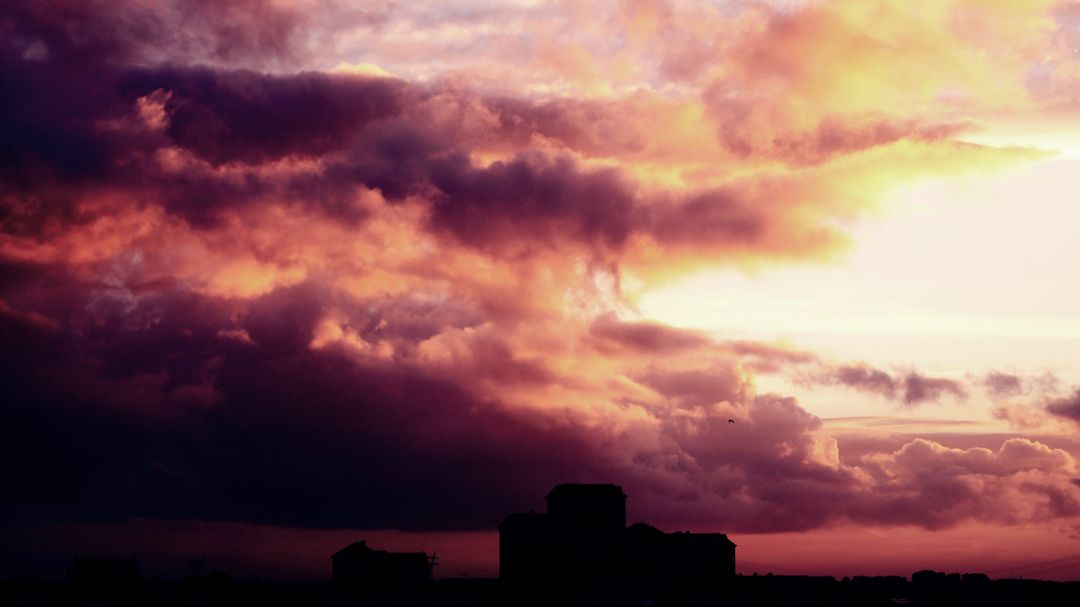 Buildings clouds cloudscape dark Free Stock Images from PikWizard