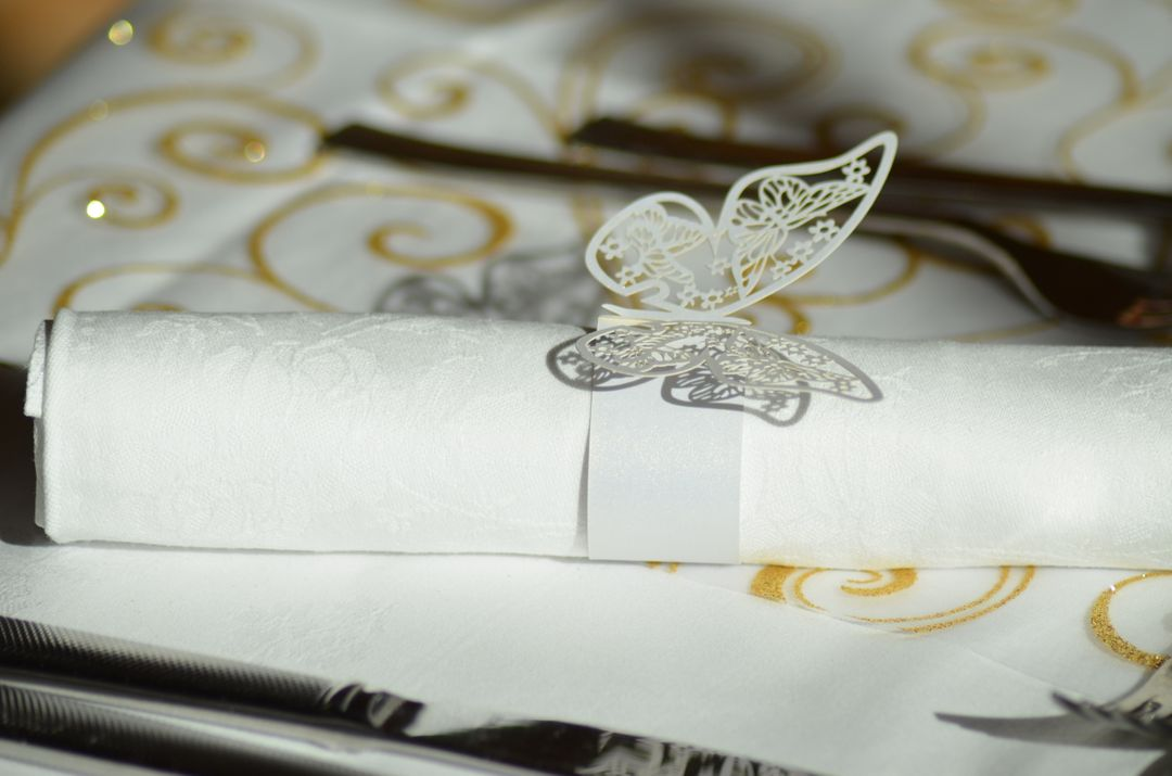 Butterfly butterfly napkin ring catering cutlery