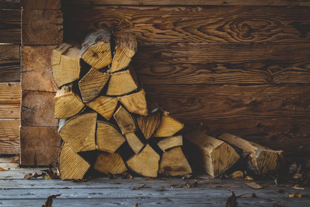 Cabin wall carpentry chopped wood color