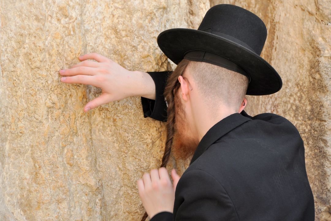 Jerusalem jew pray wailing wall