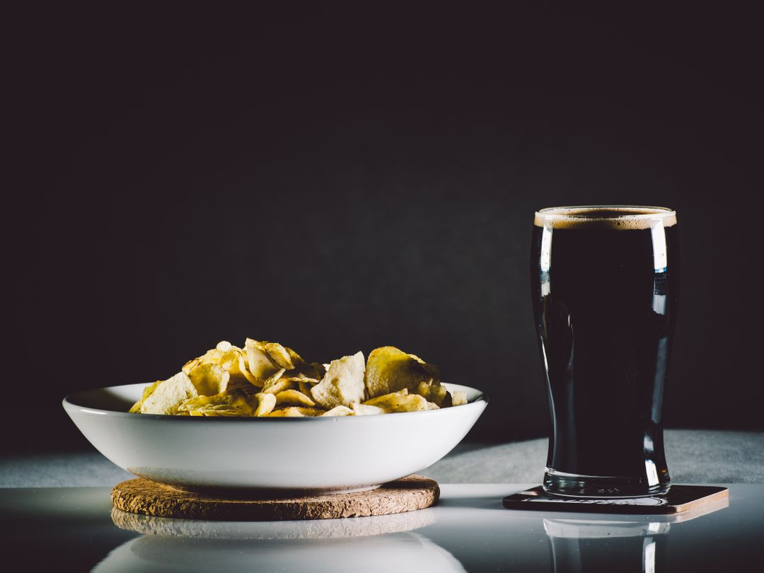 Guinness Beer Bowl Chips Crisps Free Photo