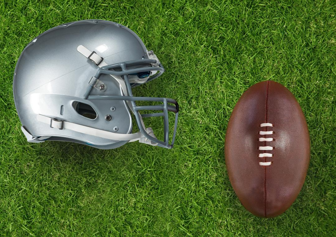 Digital composite of Composite image of football equipment in 3d